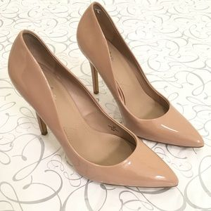 Charles David | Patent Leather Nude Pumps 9M